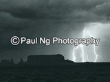 BW-011 - Night Lightening, Monument Valley, Arizona